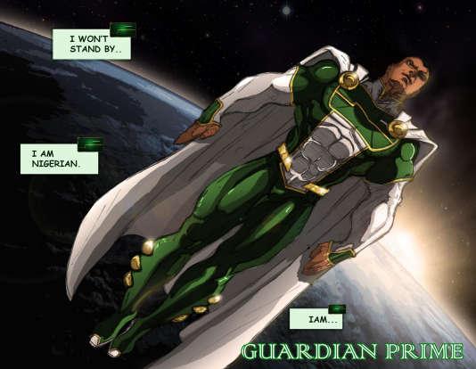 Guardian Prime, surnommé le «Superman noir», est né à Lagos en 2013.