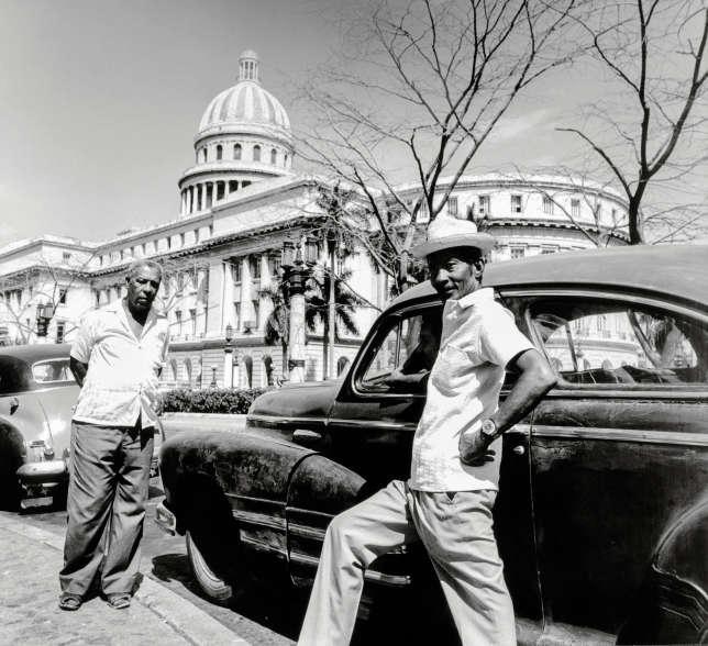 Devant El Capitolio, à La Havane, en 1981.