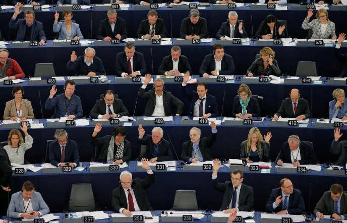 Au Parlement européen, à Strasbourg, le 14 avril.
