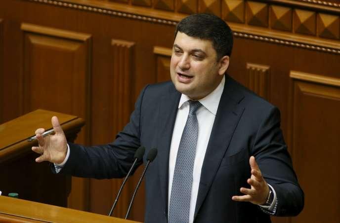 Volodymyr Hroïsman au parlement de Kiev, en Ukraine, le 14 avril 2016.