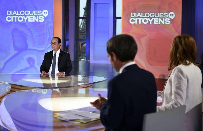 Le président François Hollande, le 14 avril, dans