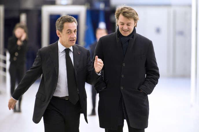 Nicolas Sarkozy et François Baroin en décembre 2014.