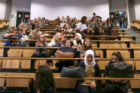 A l'université de Caen, le 14 septembre 2015.