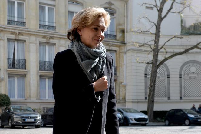 La présidente de la région Ile-de-France, Valérie Pécresse, à Paris, le 22 mars 2016.