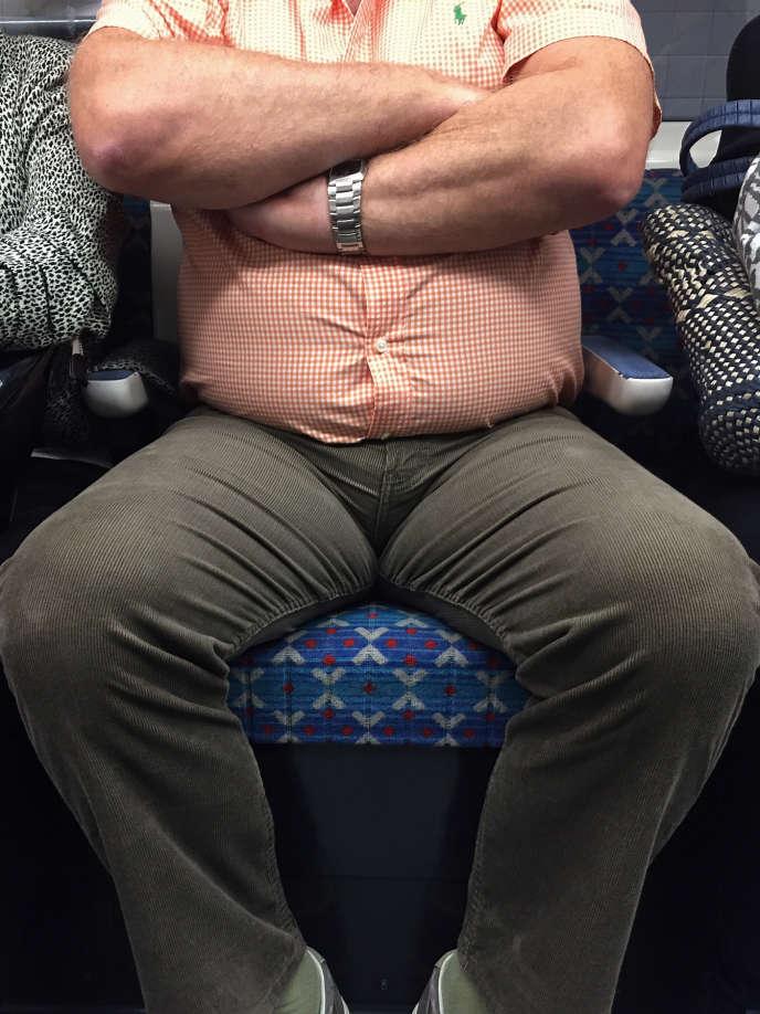 Dans le métro à Londres.
