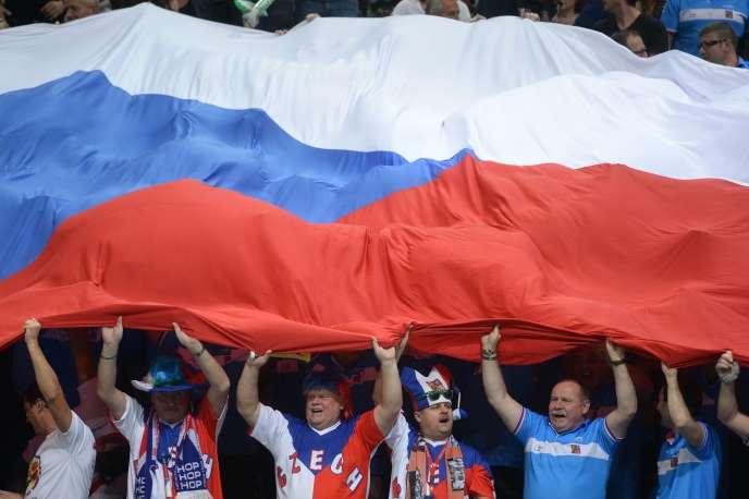 Des supporters de l'équipe tchèque de tennis en novembre 2015.
