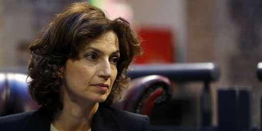 Audrey Azoulay, la ministre de la culture, avant l'inauguration du Festival Normandie impressionniste, à Rouen, le 15avril.
