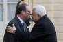 «La concentration des pouvoirs entre les mains de Mahmoud Abbas pose de graves questions pour la suite: sur le processus de transmission du pouvoir, après sa disparition, et sur l'avenir même de l'AP». (Photo : Le président de l'autorité palestinienne Mahmoud Abbas est reçu à l'Elysée par François Hollande, le 15 avril).