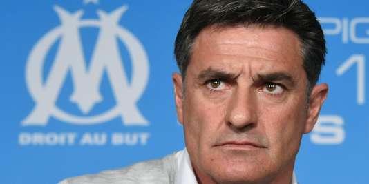 L'ancien entraîneur de l'OM, Michel, le 15 avril 2016.