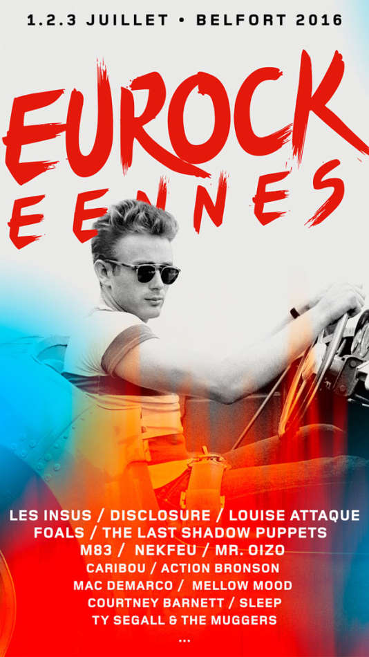 L'affiche du festival Les Eurockéennes de Belfort.