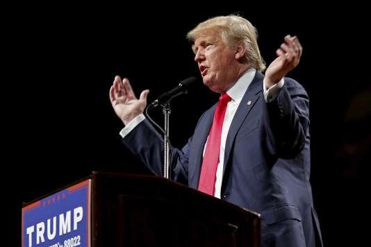 Donald Trump à Poughkeepsie, dans l'Etat de New York, le 17 avril 2016.