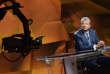 """Tarak Ben Ammar sur le plateau de l'émission télévisée """"2Next - economia e futuro"""" diffusée sur la chaîne italienne Rai 2, le 14 janvier 2014."""
