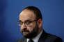 Le ministre du logement suédois, Mehmet Kaplan (Vert), lors d'une conférence, à Stockholm, le 18 avril.
