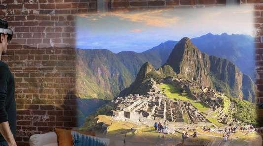 La forteresse inca d'Ollantaytambo, au Pérou, est l'une des deux destinations que l'utilisateur peut visiter grâce à l'application HoloTour.