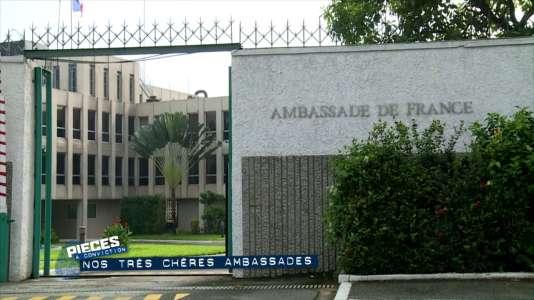 L'ambassade de France  au Sénégal.