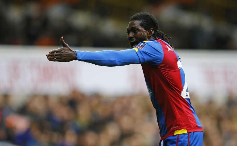 Emmanuel Adebayor, le 21 février à Crystal Palace.