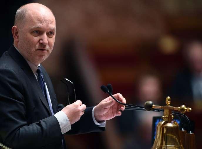 Denis Baupin pendant les questions au gouvernement à l'assemblée nationale à Paris le 2 décembre 2015.