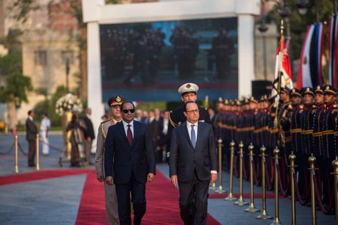 François Hollande et Abdel Fattah Al Sissi, le 17 avril.