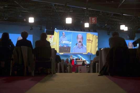 Philippe Martinez au congrès de la CGT, le 18 avril 2016.