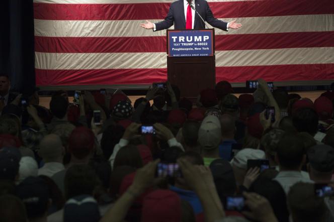 Meeting de Donald Trump à Poughkeepsie, dans l'Etat de New York, le 17avril.