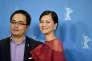 """Le réalisateur Phan Dang Di et l'actrice Do Thi Hai Yen lors d'une conférence de presse sur le film """"Mékong Stories"""" à la 65e Berlinale, le 13 février 2015."""
