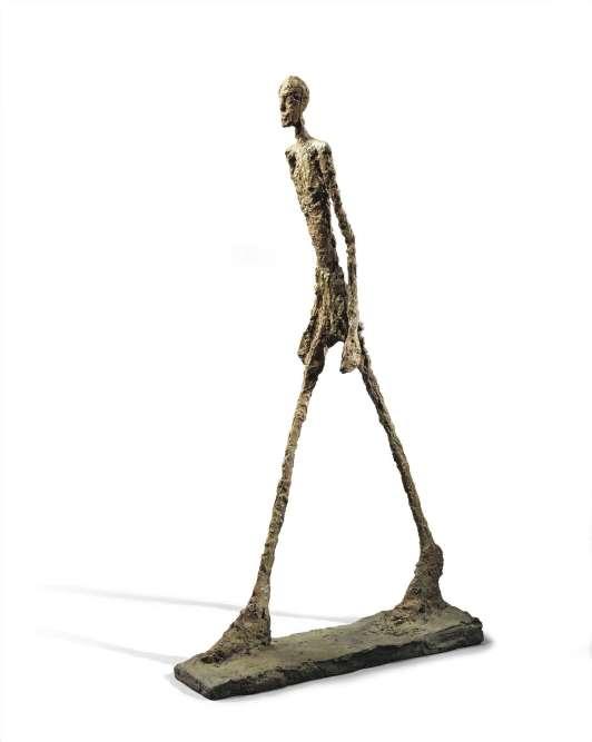 """« L'exposition est placée sous le signe de cet """"Homme qui marche"""", en symbole du chemin consumé de Genet vers le Sud comme en souvenir de l'amitié ayant lié deux des plus grands artistes du XXe siècle. »"""