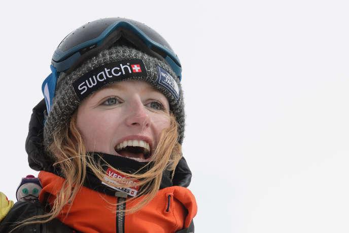Estelle Balet –ici le 2 avril 2016– était sur les lieux du tournage d'un film dans les Alpes suisses quand elle a été emportée par une avalanche.