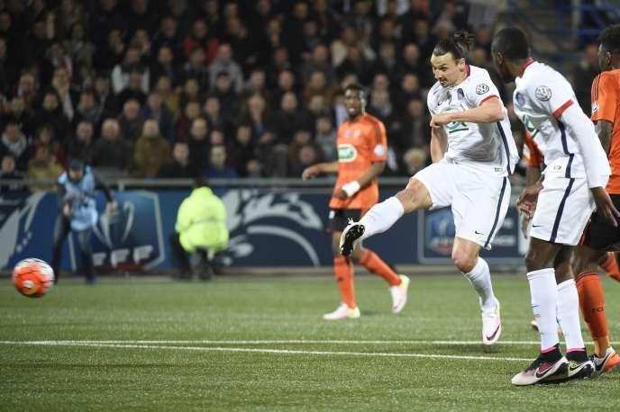 Les Parisiens se sont imposés sur la pelouse de Lorient 1 but à 0, grâce à une réalisation de Zlatan Ibrahimovic, mardi 19 avril.