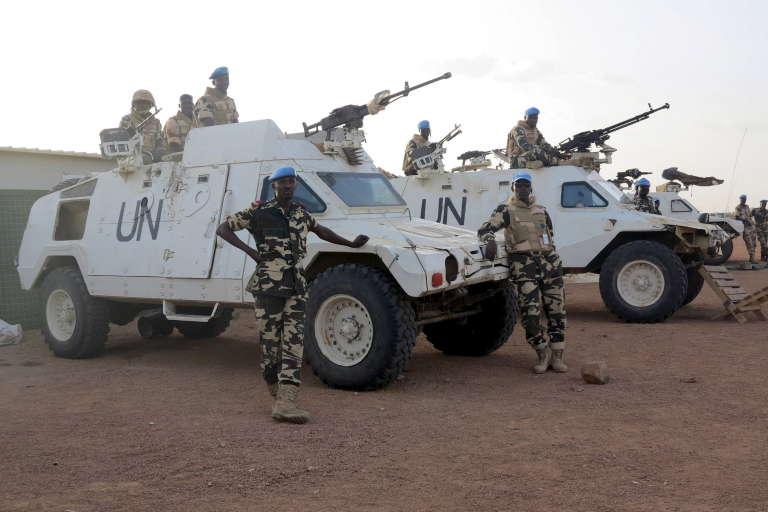 Des soldats tchadiens de la Minusma, en juillet 2015 à Kidal.