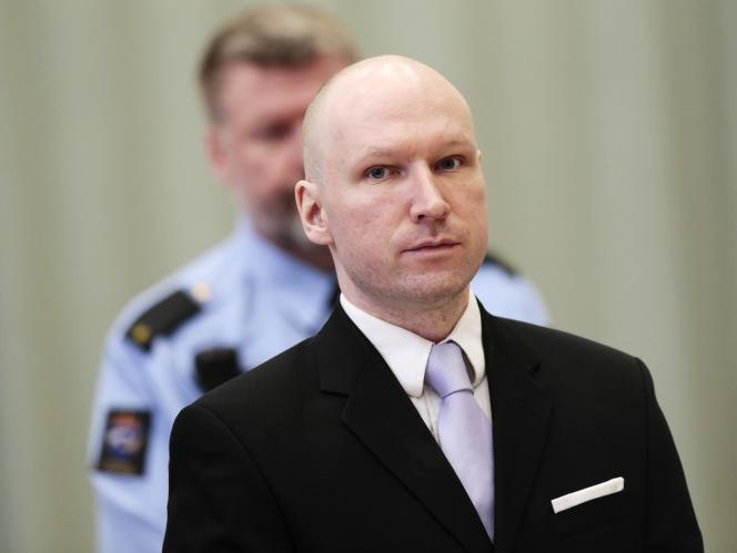 Anders Breivik, lors de son procès contre l'Etat norvégien, le 18mars.