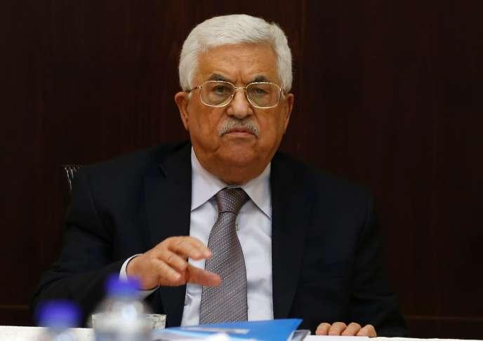 Le président de l'Autorité palestinienne, Mahmoud Abbas, à Ramallah lors du comité exécutif de l'OLP (Organisation pour la libération de la Palestine), le 4 avril 2016.