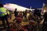 Un avion d'Air France airliner arrive à Téhéran le 17 avril 2016.