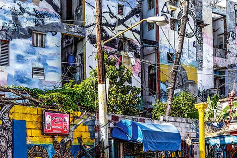 Callejon de Hamel an alley in Centro Havana that has been painted by the cuban artist Salvador Gonzalez Escalona.