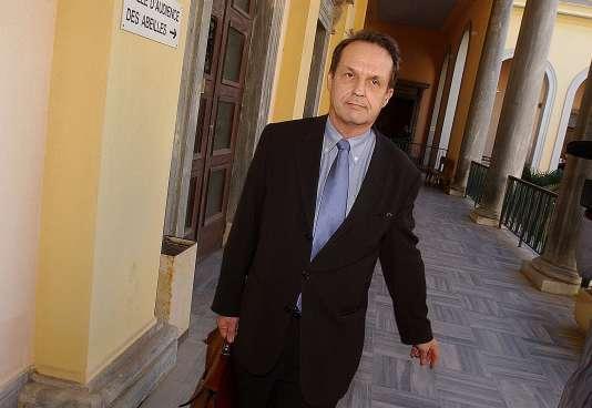 Alain Christnacht, en novembre 2002, au palais de justice de Bastia.
