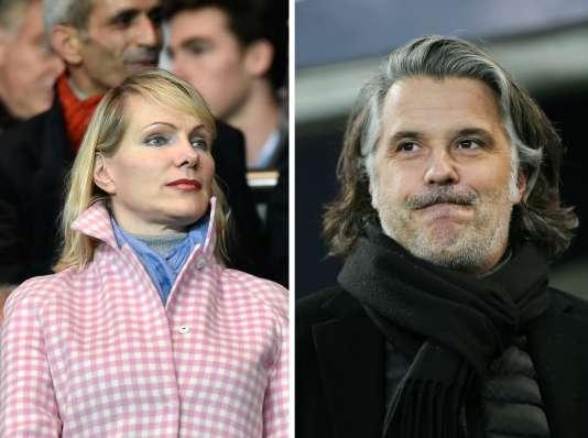 La propriétaire de l'Olympique de Marseille, Margarita Louis-Dreyfus, et le président du club, Vincent Labrune.