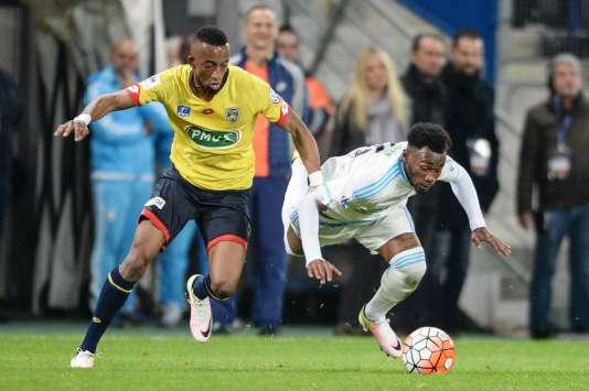 Lors du match entre Sochaux et Marseille le 20 avril au stade Bonal à Montbéliard.