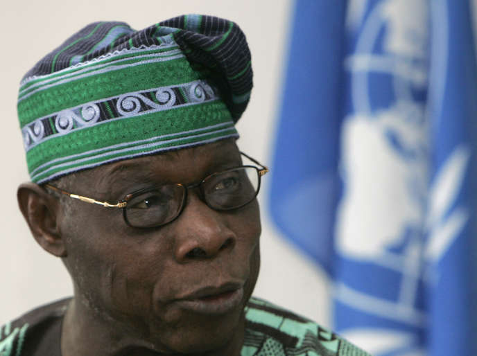 L'ancien président nigérian Olusegun Obasanjo à Nairobi en 2008.