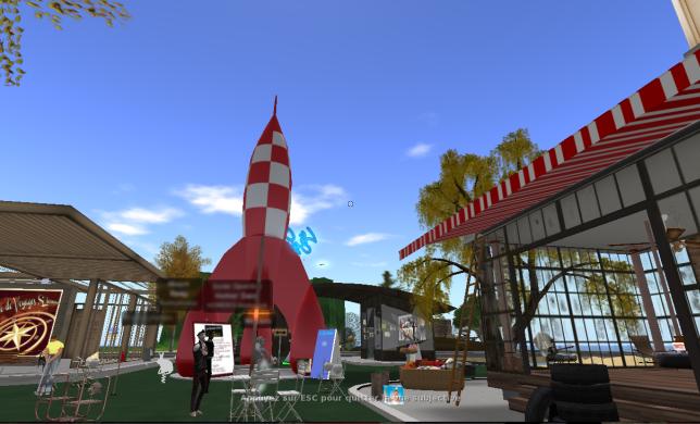 Le «Café Sympa» est un lieu fréquenté par des francophones sur «Second Life».