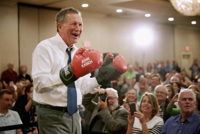 Le candidat à l'investiture du parti républicain John Kasich, le 19 avril 2016.