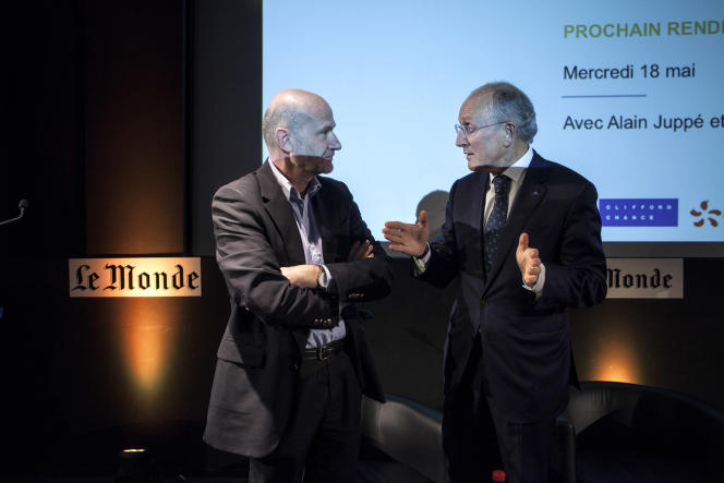 Philippe Wahl, PDG de La Poste (à droite) en compagnie de Philippe Escande.