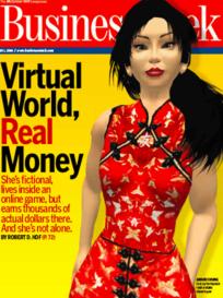 Anshe Chung, la première millionnaire de «Second Life», a fait la couverture de «Business Week».