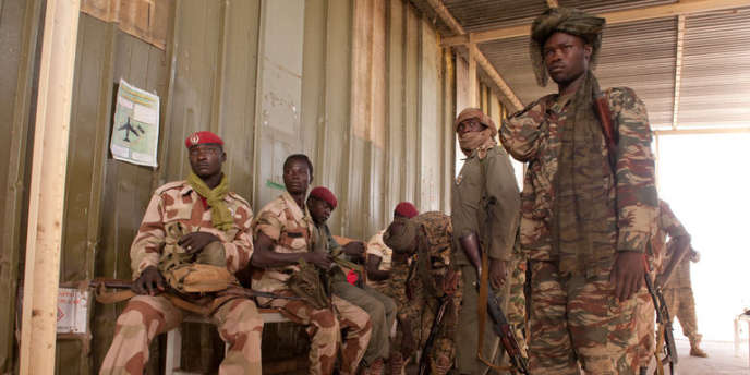 Des militaires tchadiens, le 25 janvier.