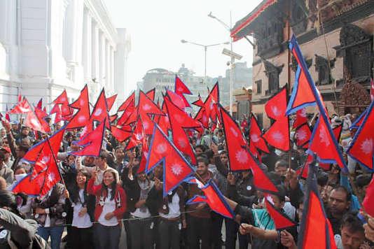 Les membres de Bibeksheel Nepali manifestent régulièrement dans les rues de Katmandou pour demander des comptes au gouvernement.