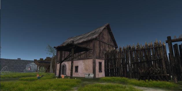 Un village dans «Second Life».