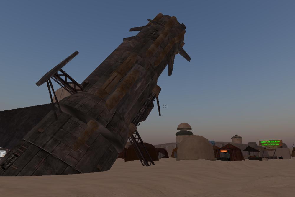 Téléportation sur Tatooine, une planète de Star Wars.