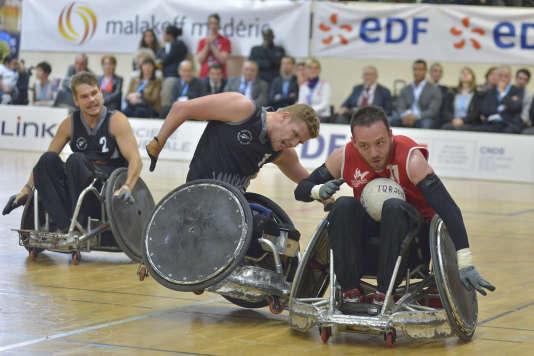 L'équipe de France de rugby fauteuil est qualifiée pour les Jeux paralympiques de Rio.