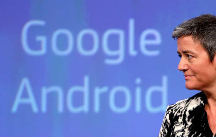 La commissaire européenne à la concurrence, Margrethe Vestager, à Bruxelles, mercredi 20 avril.