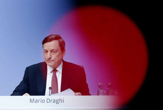 Mario Draghi, à Francfort, le 21 avril.