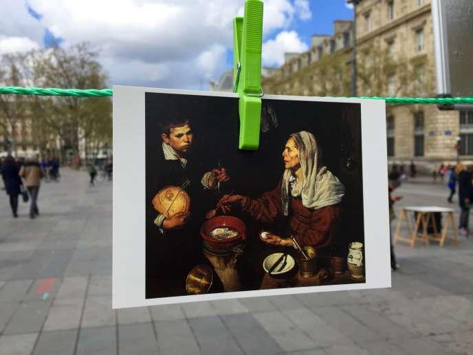 Place de la République, le 17 avril, la reproduction de
