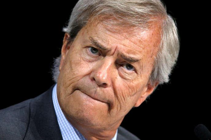 Vincent Bolloré, lors d'une réunion de Vivendi, à Paris, en avril 2016.